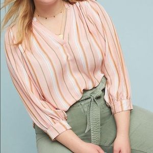 Anthropologie | Maeve Byron Striped Top Blouse
